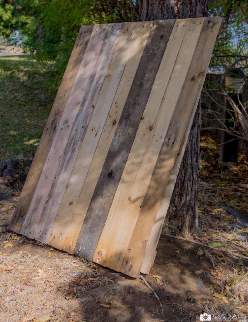 Panneau en bois de palettes