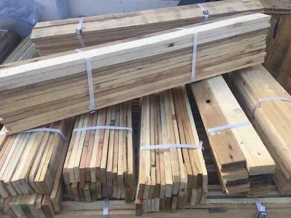 Lot de 25 planches 120 cm – Largeur 7 cm