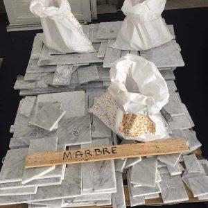 Brocante aux matériaux : marbre